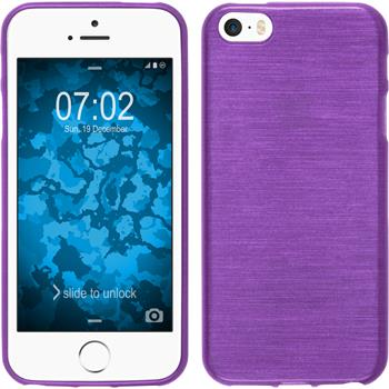 Silicone Case for Apple iPhone SE brushed purple