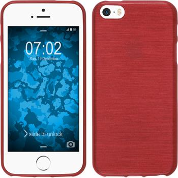 Silicone Case for Apple iPhone SE brushed red