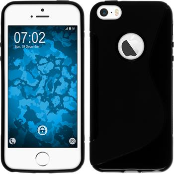 Silicone Case for Apple iPhone SE S-Style logo black