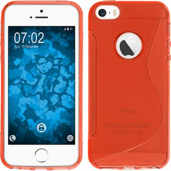 Silicone Case for Apple iPhone SE S-Style logo red