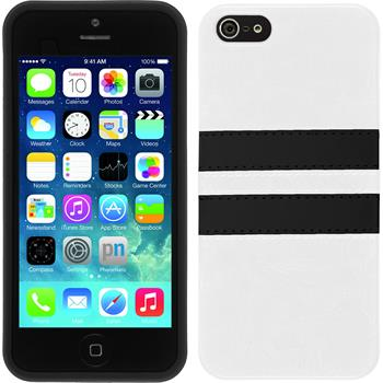 Silicone Case for Apple iPhone SE Stripes white