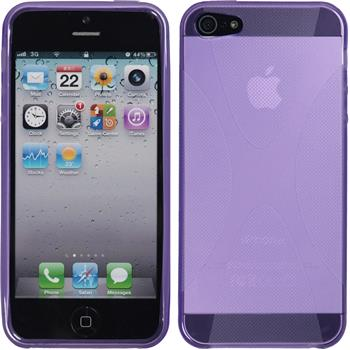 Silicone Case for Apple iPhone SE X-Style purple