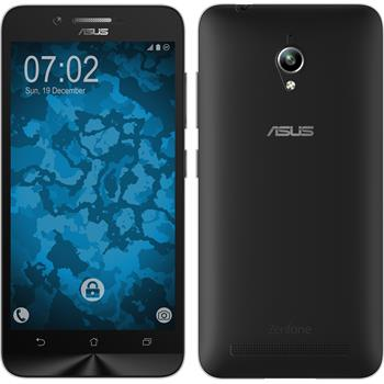 Silicone Case for Asus Zenfone Go (ZC500TG) 360° Fullbody gray