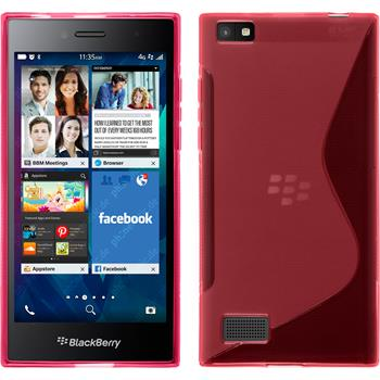 Silicone Case for BlackBerry Leap S-Style hot pink