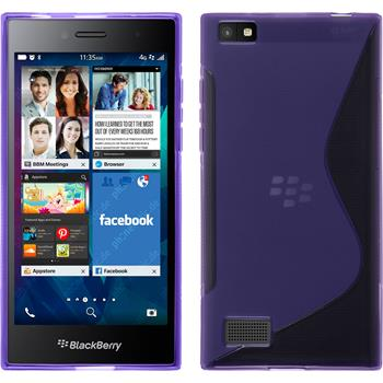 Silicone Case for BlackBerry Leap S-Style purple