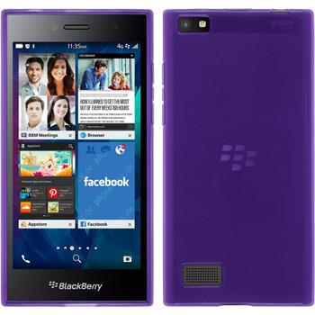 Silicone Case for BlackBerry Leap transparent purple