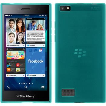 Silicone Case for BlackBerry Leap transparent turquoise