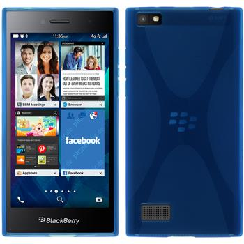 Silicone Case for BlackBerry Leap X-Style blue