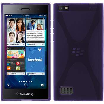 Silicone Case for BlackBerry Leap X-Style purple