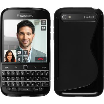Silicone Case for BlackBerry Q20 S-Style black