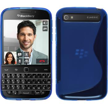 Silicone Case for BlackBerry Q20 S-Style blue