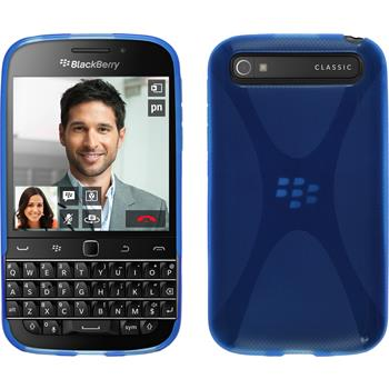 Silicone Case for BlackBerry Q20 X-Style blue