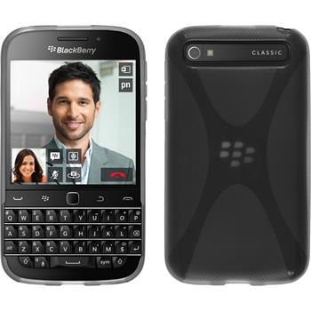 Silicone Case for BlackBerry Q20 X-Style gray