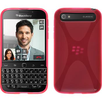 Silicone Case for BlackBerry Q20 X-Style hot pink