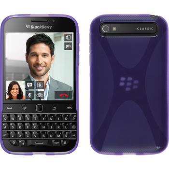 Silicone Case for BlackBerry Q20 X-Style purple