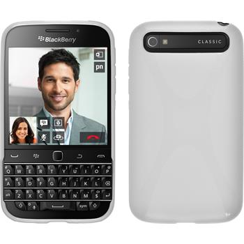 Silicone Case for BlackBerry Q20 X-Style white