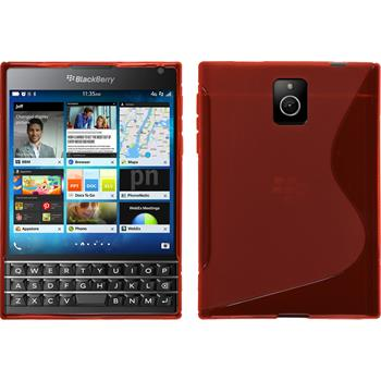 Silicone Case for BlackBerry Q30 S-Style red