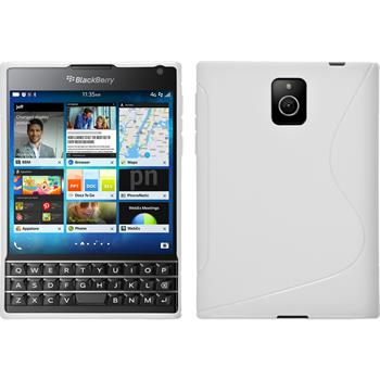 Silicone Case for BlackBerry Q30 S-Style white