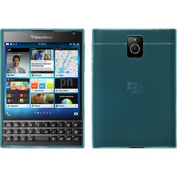 Silicone Case for BlackBerry Q30 transparent turquoise