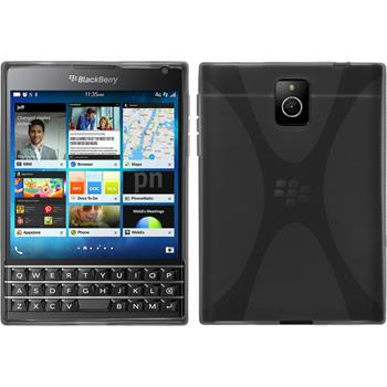 Silicone Case for BlackBerry Q30 X-Style gray