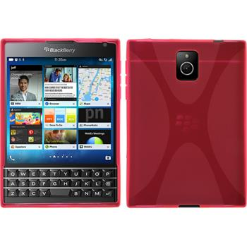 Silicone Case for BlackBerry Q30 X-Style hot pink