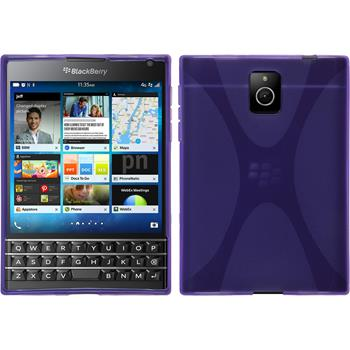 Silicone Case for BlackBerry Q30 X-Style purple