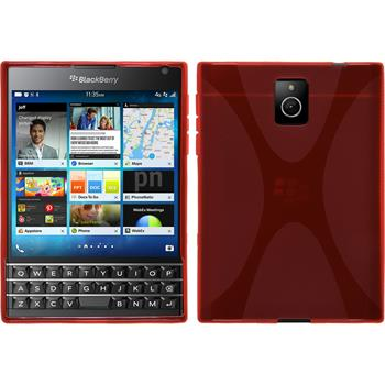 Silicone Case for BlackBerry Q30 X-Style red