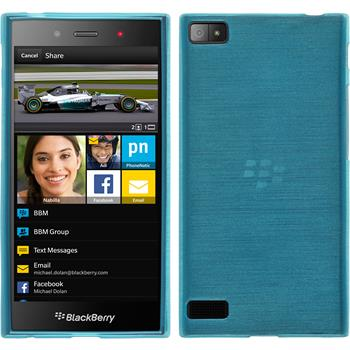 Silicone Case for BlackBerry Z3 brushed blue