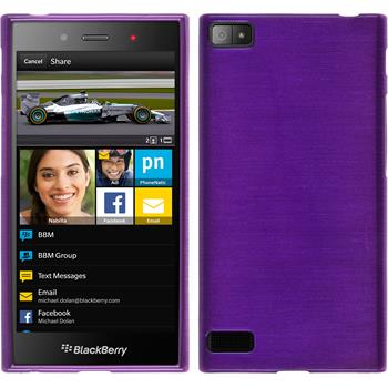 Silicone Case for BlackBerry Z3 brushed purple