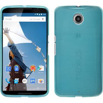 Silicone Case for Google Motorola Nexus 6 brushed blue