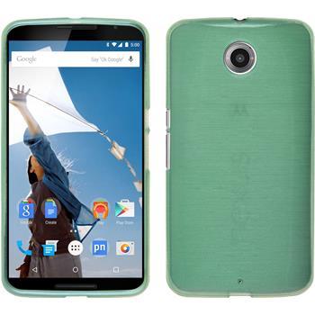Silicone Case for Google Motorola Nexus 6 brushed pastel green