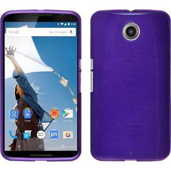 Silicone Case for Google Motorola Nexus 6 brushed purple