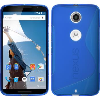 Silicone Case for Google Motorola Nexus 6 S-Style blue
