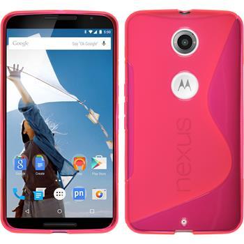 Silicone Case for Google Motorola Nexus 6 S-Style hot pink