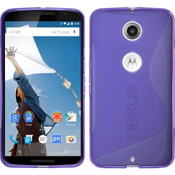 Silicone Case for Google Motorola Nexus 6 S-Style purple