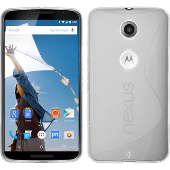 Silicone Case for Google Motorola Nexus 6 S-Style transparent