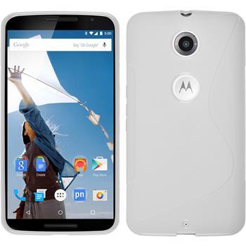 Silicone Case for Google Motorola Nexus 6 S-Style white