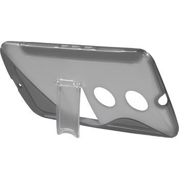 Silicone Case for Google Motorola Nexus 6 stand function gray