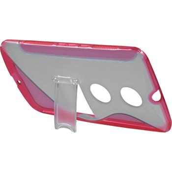 Silicone Case for Google Motorola Nexus 6 stand function hot pink