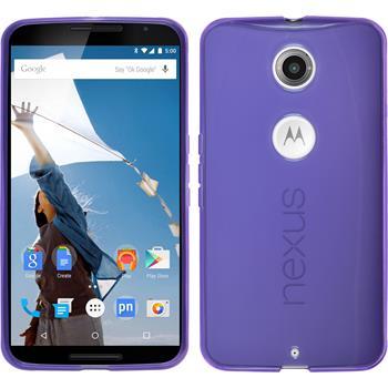 Silicone Case for Google Motorola Nexus 6 transparent purple