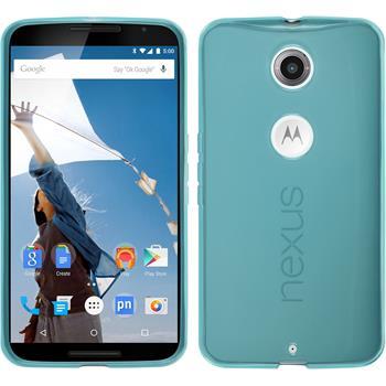 Silicone Case for Google Motorola Nexus 6 transparent turquoise