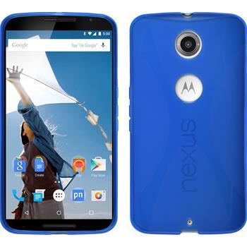 Silicone Case for Google Motorola Nexus 6 X-Style blue