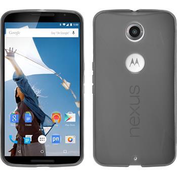 Silicone Case for Google Motorola Nexus 6 X-Style gray