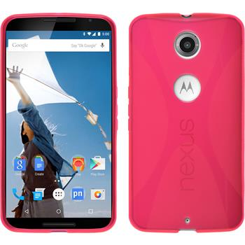 Silicone Case for Google Motorola Nexus 6 X-Style hot pink