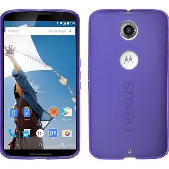 Silicone Case for Google Motorola Nexus 6 X-Style purple
