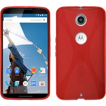 Silicone Case for Google Motorola Nexus 6 X-Style red