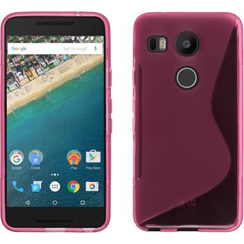 Silicone Case for Google Nexus 5X S-Style hot pink
