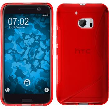 Silicone Case for HTC 10 S-Style red