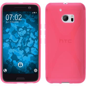 Silicone Case for HTC 10 X-Style hot pink