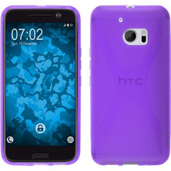Silicone Case for HTC 10 X-Style purple